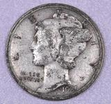 1921 D Mercury Silver Dime.