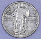 1917 D Ty.2 Standing Liberty Silver Quarter.