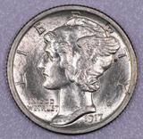 1917 D Mercury Silver Dime.
