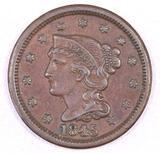 1845 Braided Hair Large Cent.