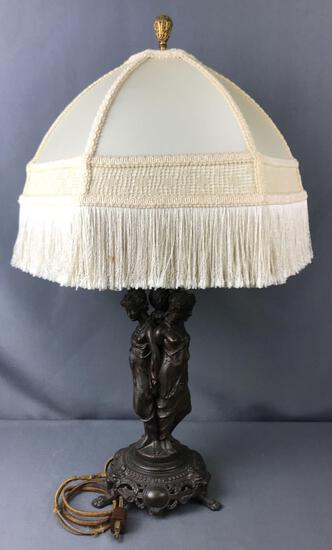 Three Graces Grecian Figural Table Lamp