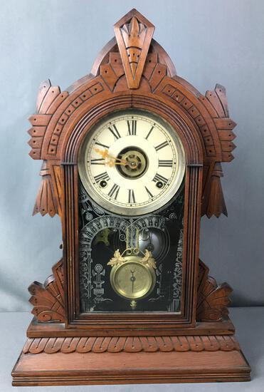 Antique Wm L Gilbert Mantle Clock