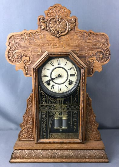 Antique E. Ingraham Co. Mantle Clock