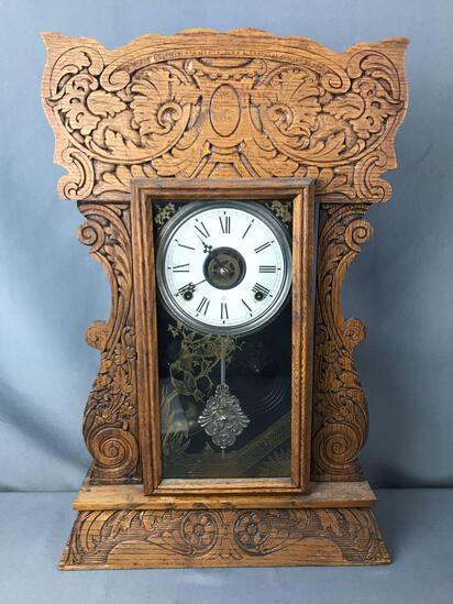 Antique Wm L. Gilbert Mantle Clock