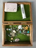 Vintage Turquoise Jewelry Collection w/ Jewelry Box