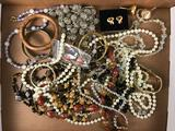 Vintage Lot of Costume Jewelry : Beads, Bangles, Bracelets and More