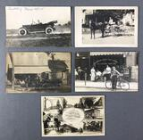 Group of 5 : Antique Real Photo Postcards