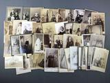 Group of Antique Photo Portraits and Gatherings