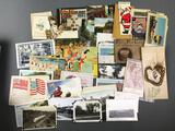Group of Antique Postcards, Vintage Photographs, and more
