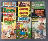 Group Vintage Comic Books including the Phantom, Popeye