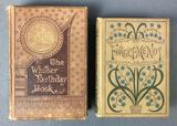 Lot of 2 Antique Books : Whittier Birthday and Forget-Me-Not