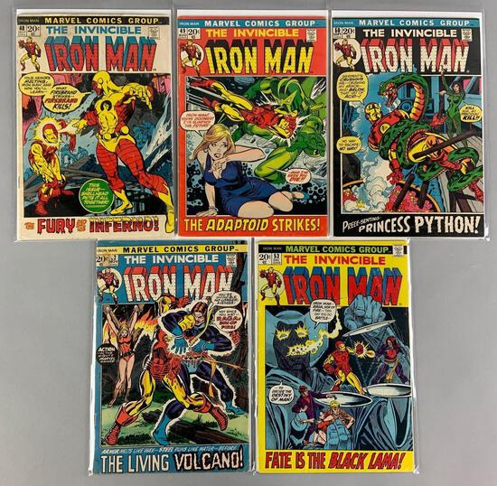 Group of 5 Marvel Comics The Invincible Iron Man Comic Books