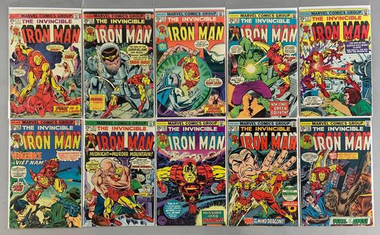 Group of 10 Marvel Comics The Invincible Iron Man Comic Books