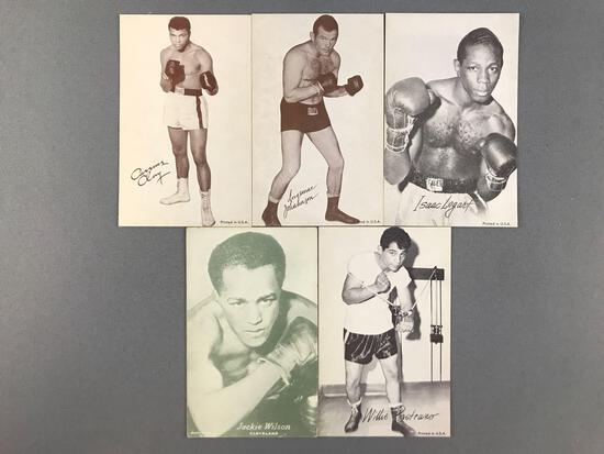 Group of 5 Vintage Boxing Exhibit/Arcade Cards