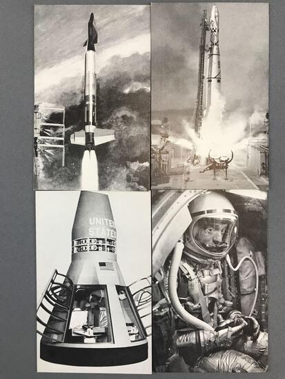 Group of 40+ Vintage NASA Exhibition Cards