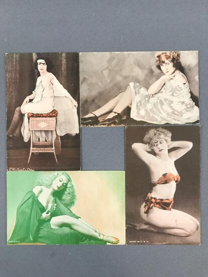 Group of 100+ vintage Exhibition and Post Cards-Risque, burlesque