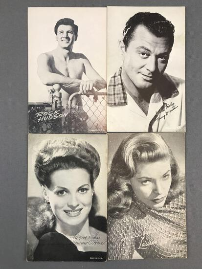 Group of 80+ Vintage Exhibition Cards-Actors and Actresses
