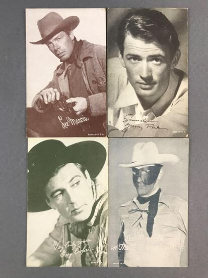 Group of 50+ Vintage Exhibition cards-Actors and Actresses from Westerns