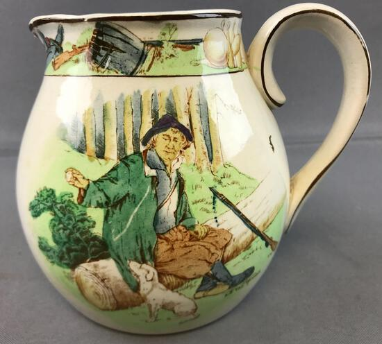 Antique (1906) Buffalo Pottery Rip Van Winkle Pitcher