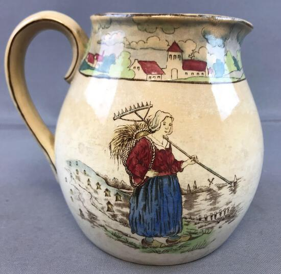 Antique (1907) Buffalo Pottery Pitcher - Holland