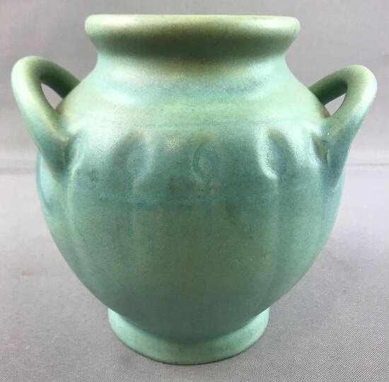 Vintage Van Briggle Double Handle Fat Urn