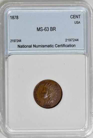 1878 Indian Head Cent (NNC) MS63BR.