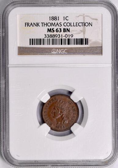1881 Indian Head Cent (NGC) MS63BN.