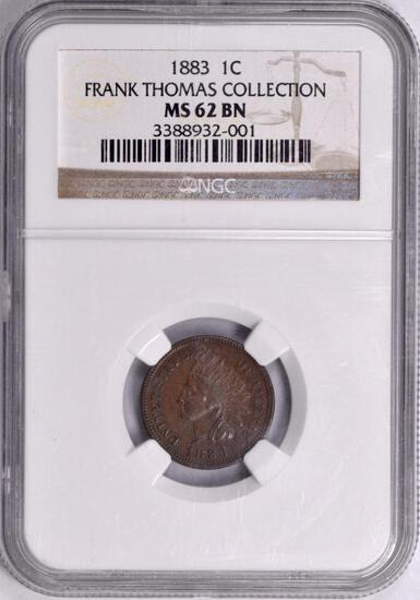 1883 Indian Head Cent (NGC) MS62BN.