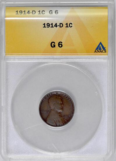1914 D Lincoln Wheat Cent (ANACS) G6.