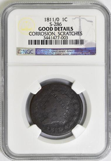1811/0 Classic Head Large Cent (NGC) Good details.