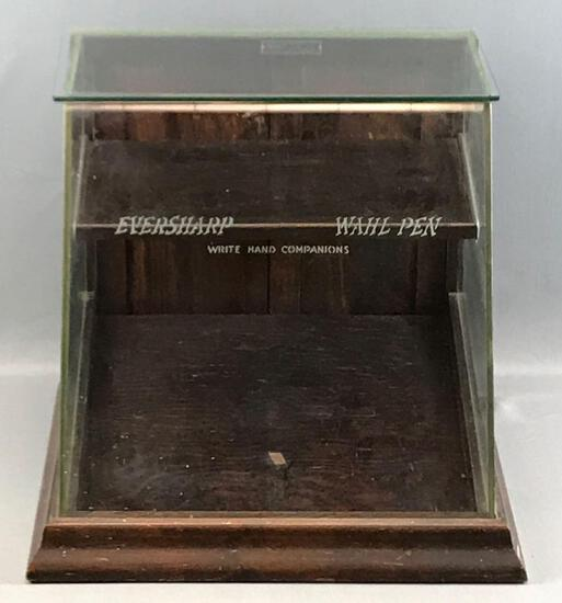 Antique Eversharp Wahl Pen Display Showcase