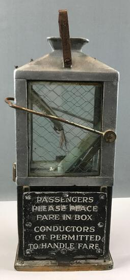 Antique Trolley Fare Box