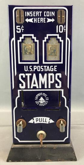 Vintage (1950s) US Postage Stamp Vending Machine w/ Key