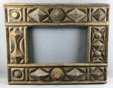 Antique Tramp Art : Picture Frame
