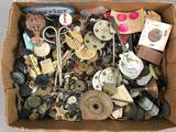 Group of Vintage Buttons + more