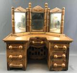 Vintage Handcrafted Toy Vanity Table