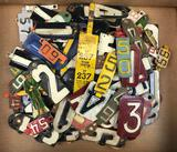 Group of Antique/Vintage Tin and Metal Numbers + more