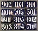 Group of 12 : Vintage Enamel Number Signs