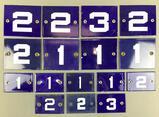 Group of 16 : Enamel Numbers -