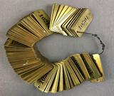 Group of Vintage Brass Number Plaques
