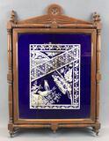 Antique Wooden Vanity Tri-fold Mirror