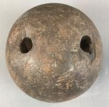 Vintage Wooden 2-hole Bowling Ball
