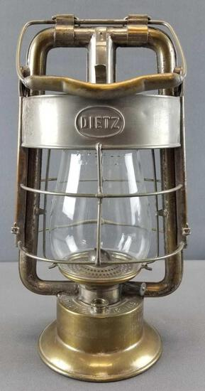 Vintage Dietz King Fire Department Oil Lamp