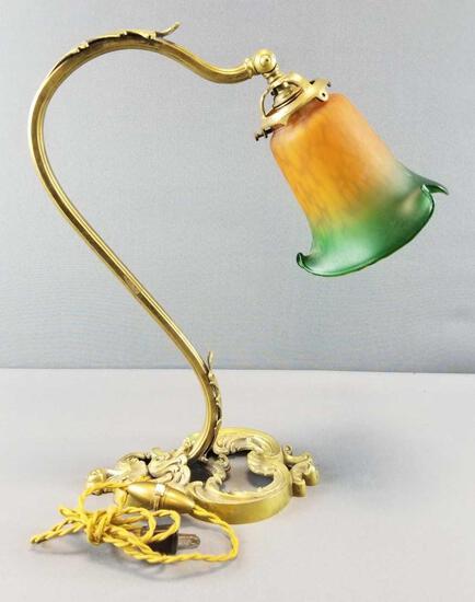 Vintage Brass Desk Lamp