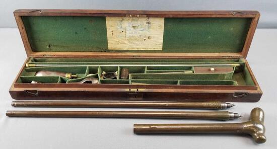 Lang Percussion Cane Gun in Original Case