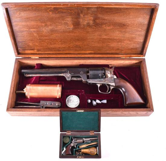 Oversized 1851 Navy Colt .36 cal. Revolver with Case and Stand