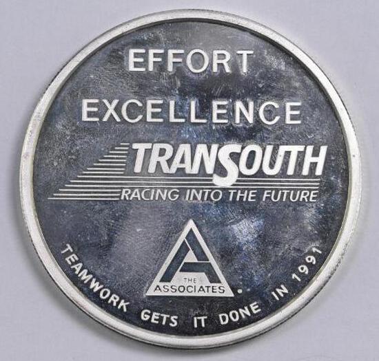 Transsouth 5oz. .999 Fine Silver Round.
