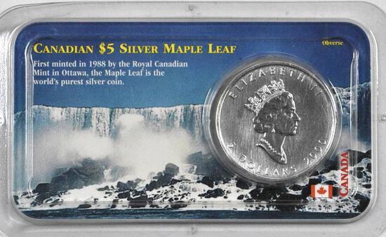 2000 $5 Canada Silver Maple Leaf .9999 Fine Silver.