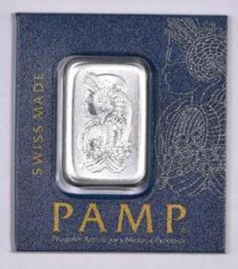 PAMP Suisse 1 Gram .9995 Fine Platinum Ingot / Bar.