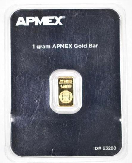 APMEX 1 Gram Gold Ingot/Bar.
